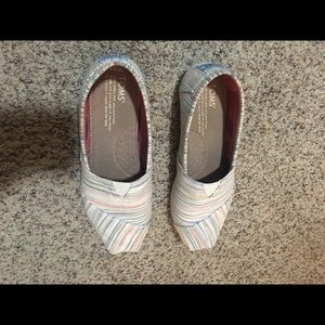 TOMS multi colored slip-ons